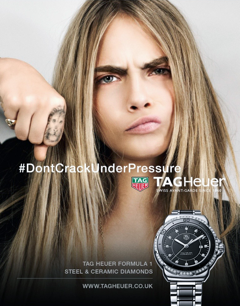 Cara Delevingne for Tag Heuer.